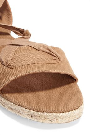 CASTAÑER Ibo canvas and grosgrain sandals