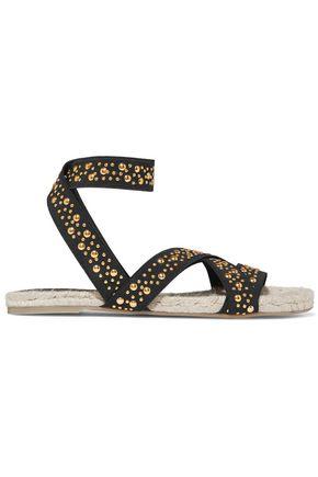 CASTAÑER Inette stud-embellished grosgrain sandals