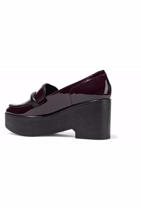 ROBERT CLERGERIE Patent-leather platform brogues