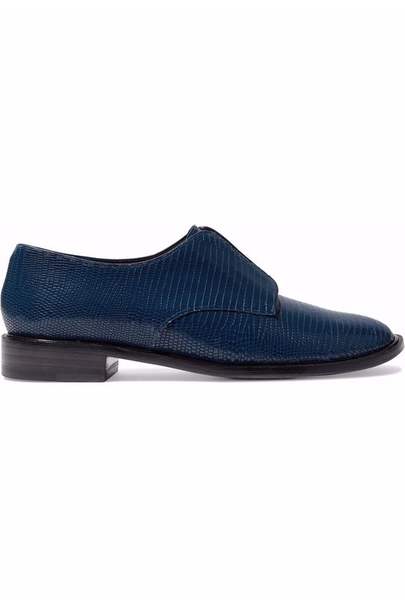 Lizard-effect leather brogues | ROBERT CLERGERIE | Sale up to 70% off | THE  OUTNET