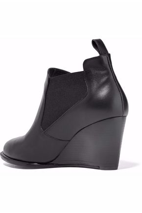ROBERT CLERGERIE Leather wedge ankle boots