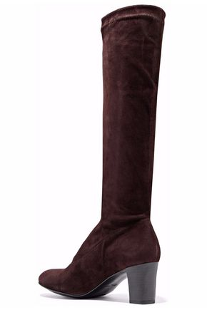 ROBERT CLERGERIE Suede over-the-knee boots