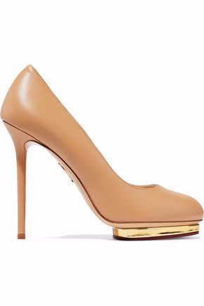 CHARLOTTE OLYMPIA Leather platform pumps