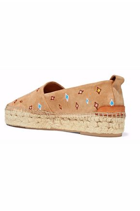 RAG & BONE Adria embroidered suede espadrilles
