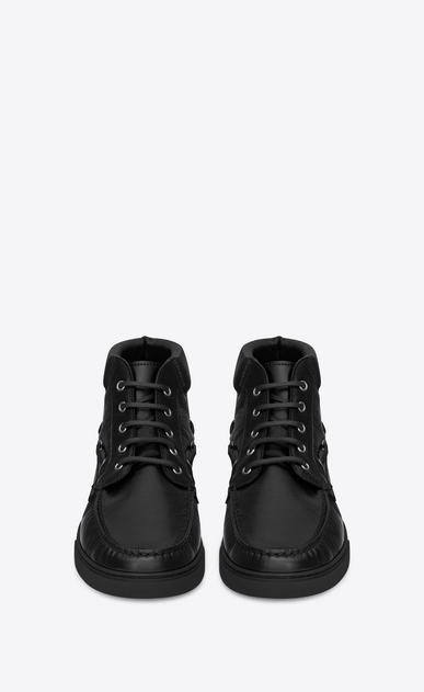 SAINT LAURENT High top sneakers U Medium-high JOE sneakers in black moroder leather  b_V4