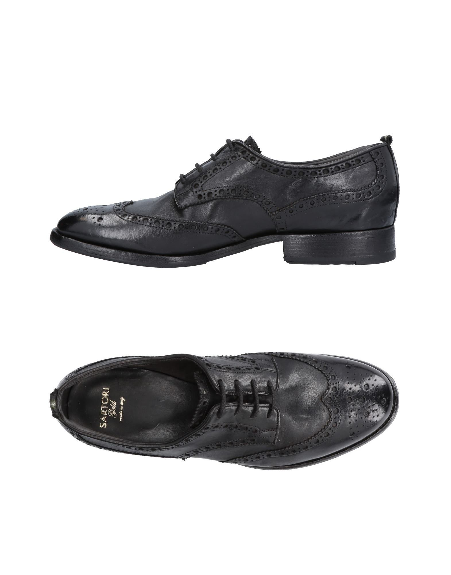 SARTORI GOLD Laced Shoes in Black