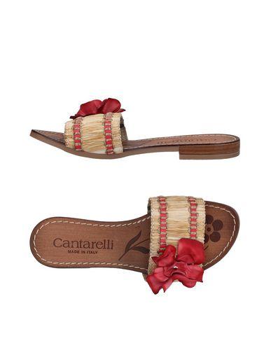 CANTARELLI レディース サンダル レッド 35 ラフィア / 革