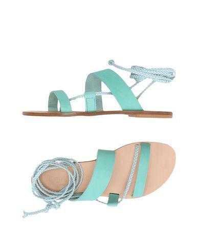 Фото - Женские сандали  светло-зеленого цвета