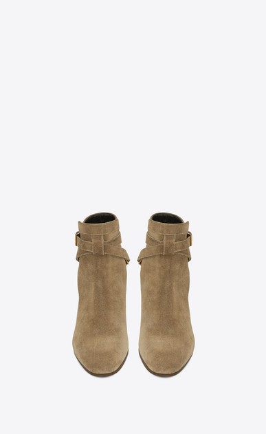 SAINT LAURENT Flat Booties Woman signature blake 40 jodhpur boot in beige suede b_V4