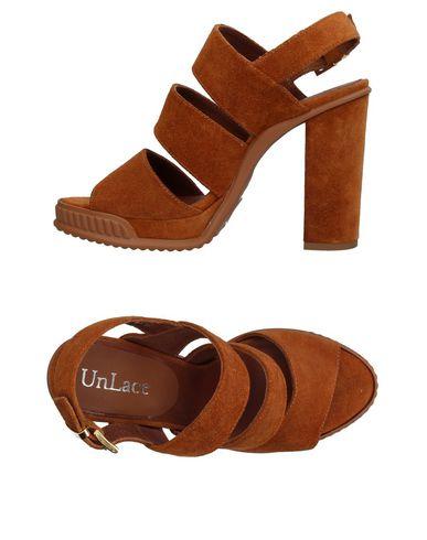 Купить Женские сандали UNLACE желто-коричневого цвета