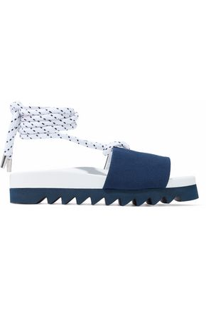 JOSHUA*S Embellished canvas and leather sandals