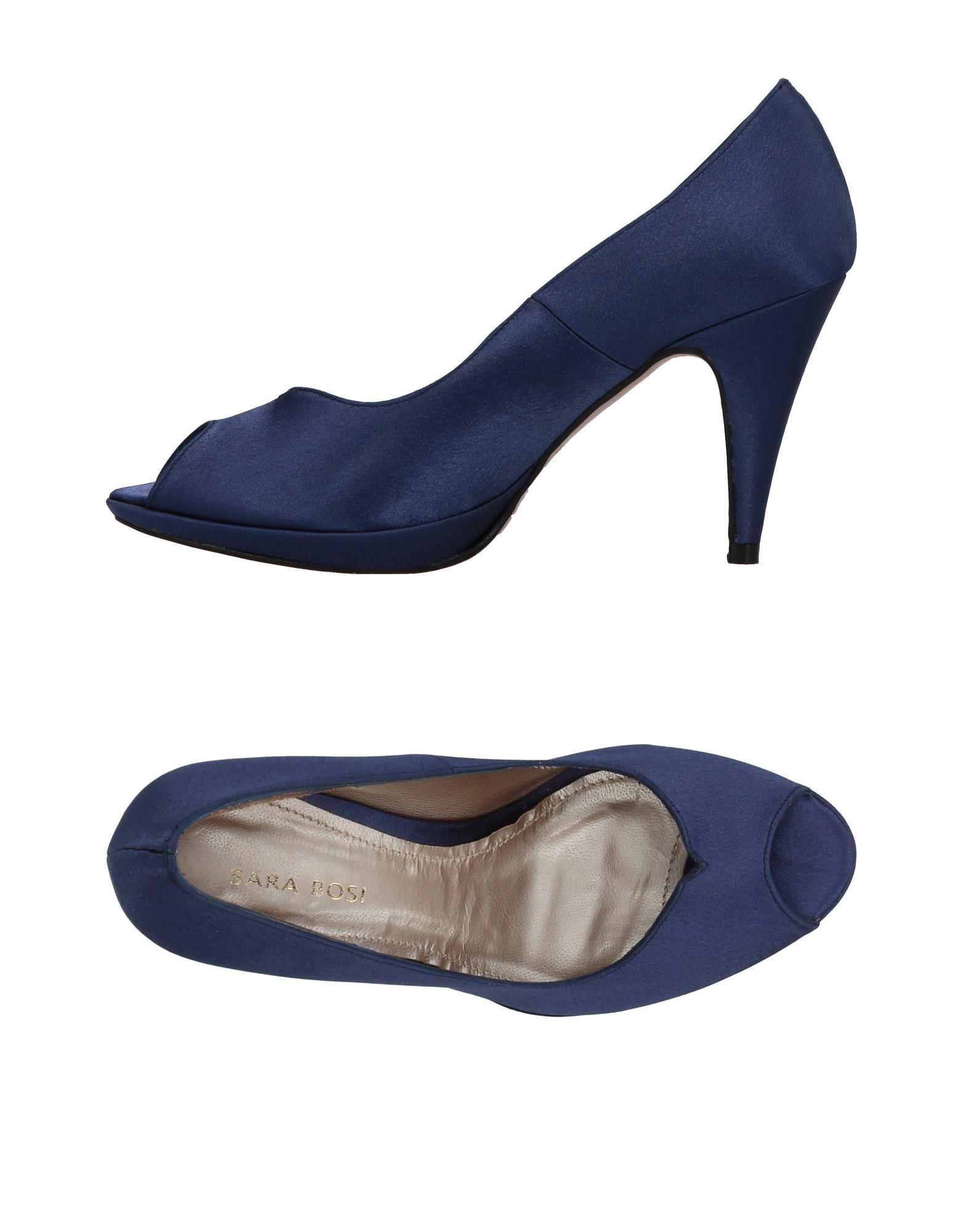 《セール開催中》SARA BOSI レディース パンプス ブルー 36 紡績繊維