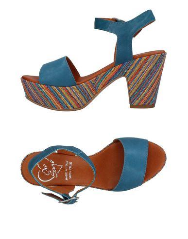 Фото - Женские сандали OROSCURO грифельно-синего цвета