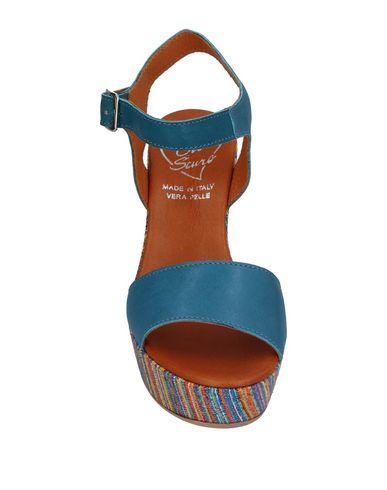 Фото 2 - Женские сандали OROSCURO грифельно-синего цвета