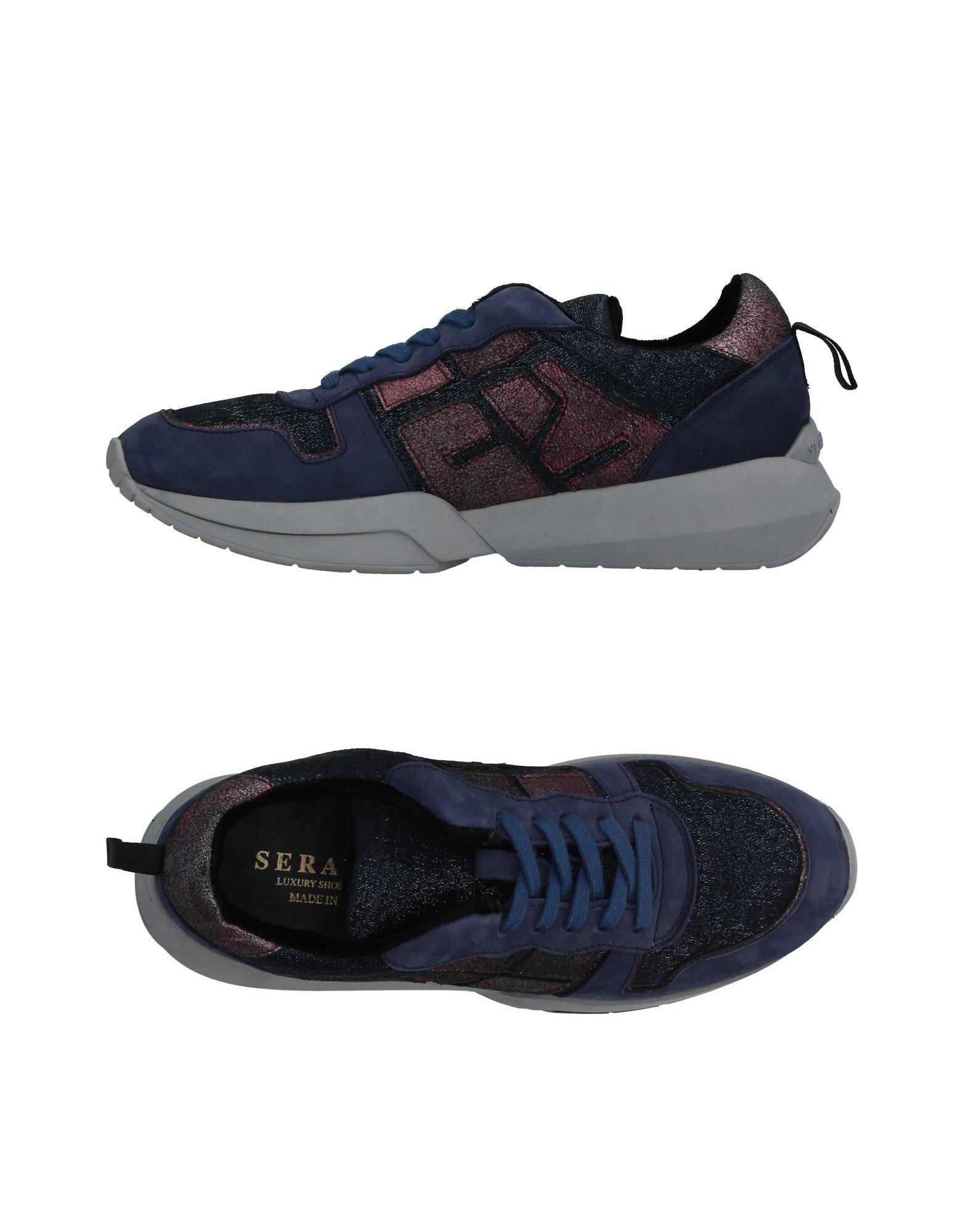SERAFINI LUXURY Damen Low Sneakers & Tennisschuhe Farbe Violett Größe 9 - broschei
