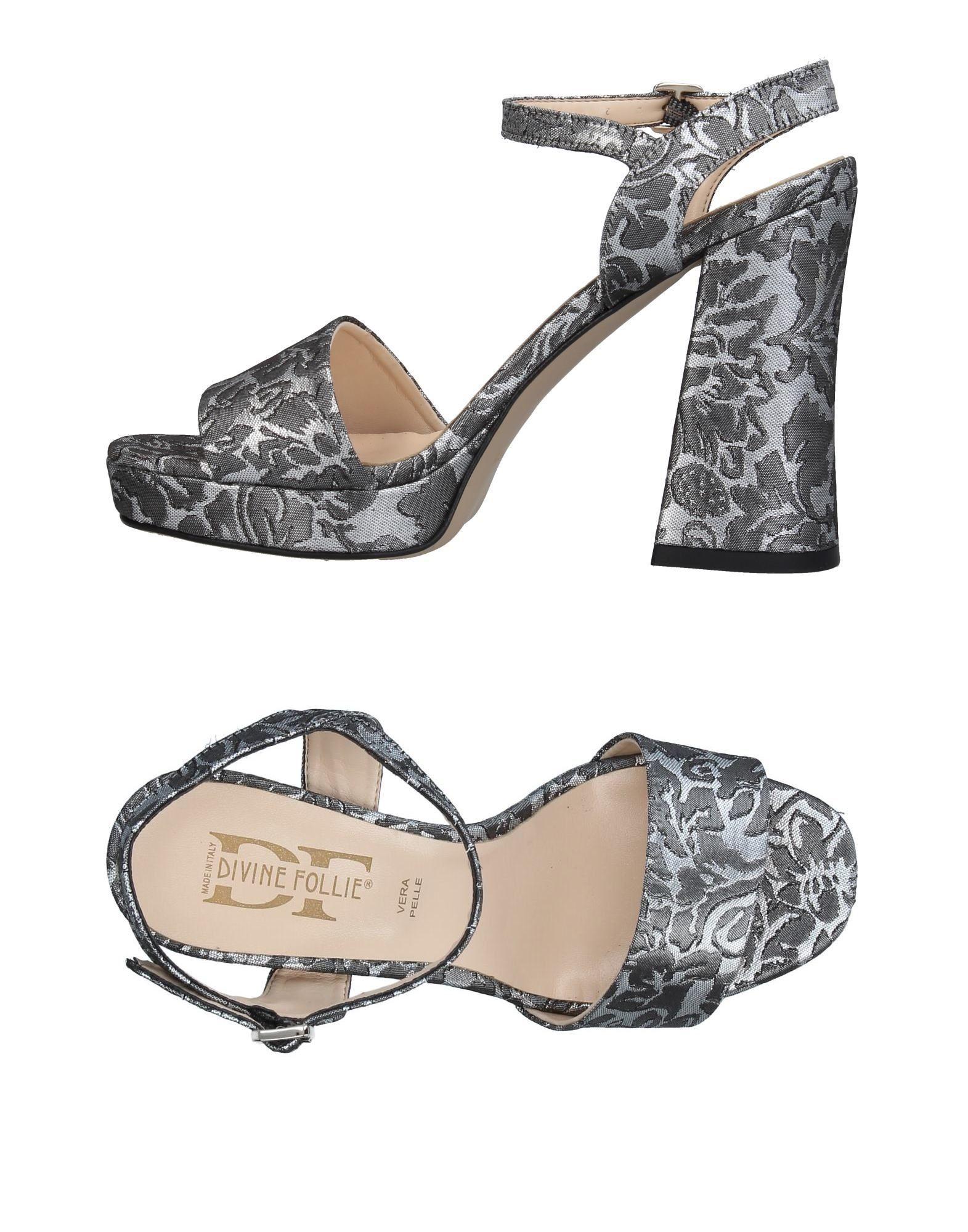 DIVINE FOLLIE Damen Sandale Farbe Grau Größe 9 - broschei