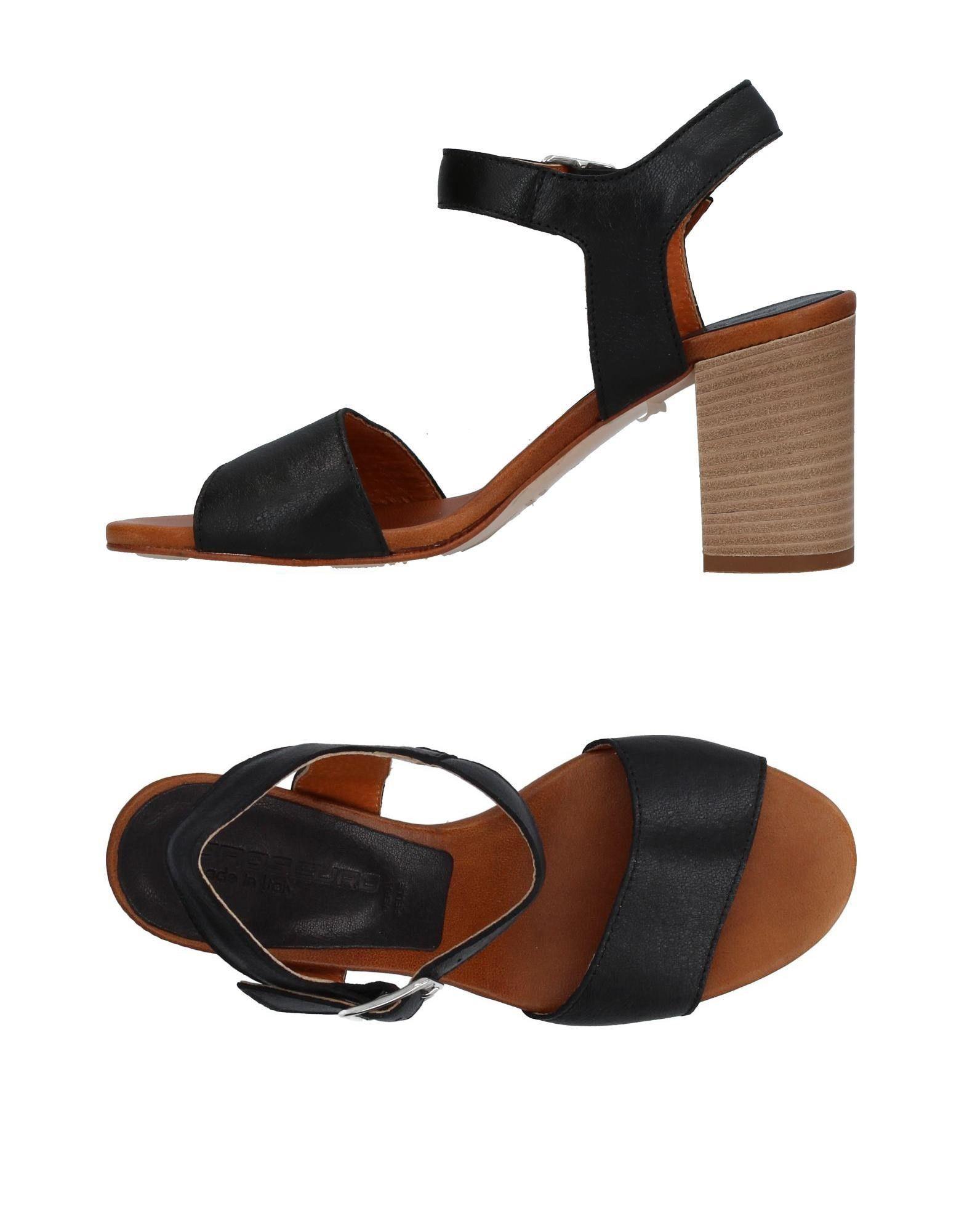 OROSCURO Damen Sandale Farbe Schwarz Größe 7 - broschei