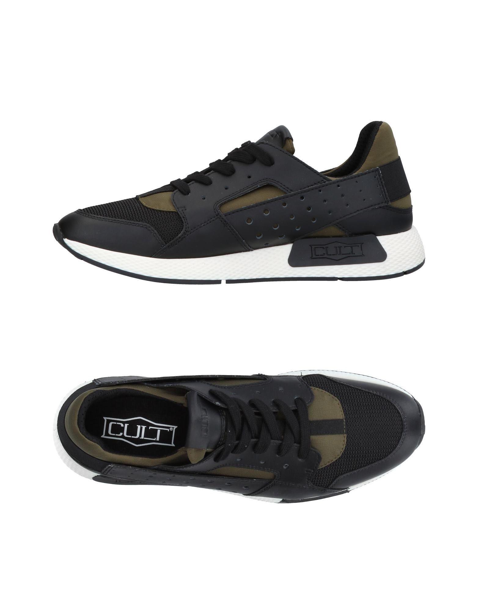 CULT Herren Low Sneakers & Tennisschuhe Farbe Schwarz Größe 15 - broschei