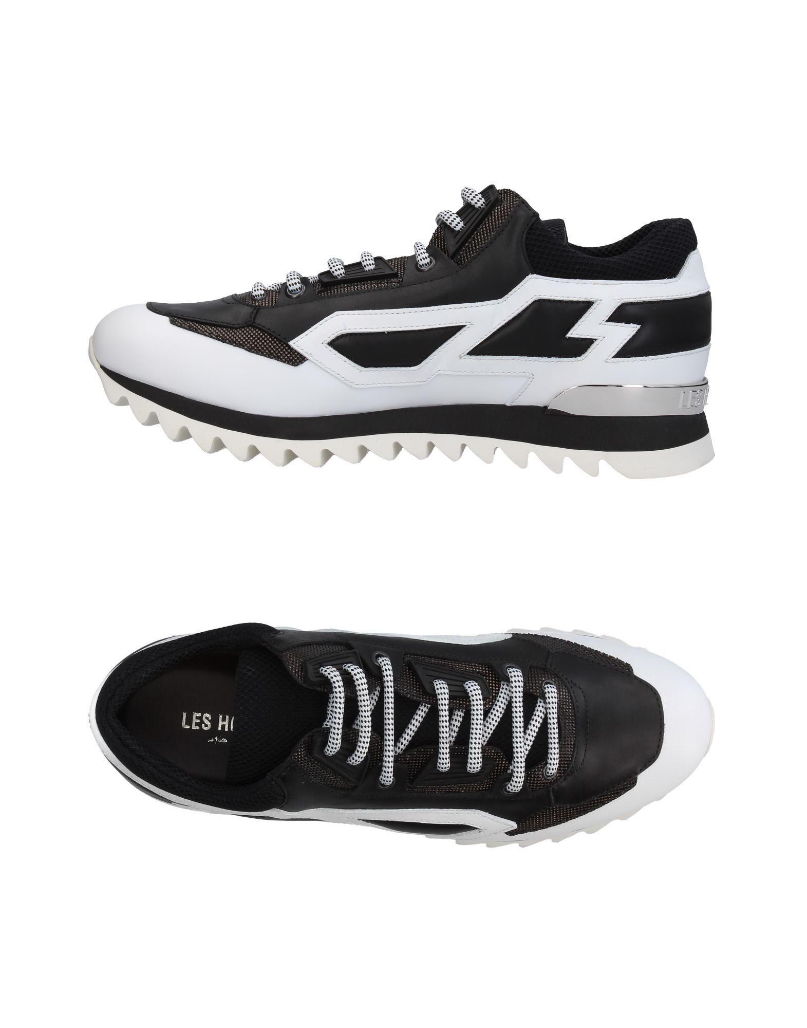 LES HOMMES Herren Low Sneakers & Tennisschuhe Farbe Schwarz Größe 9 - broschei