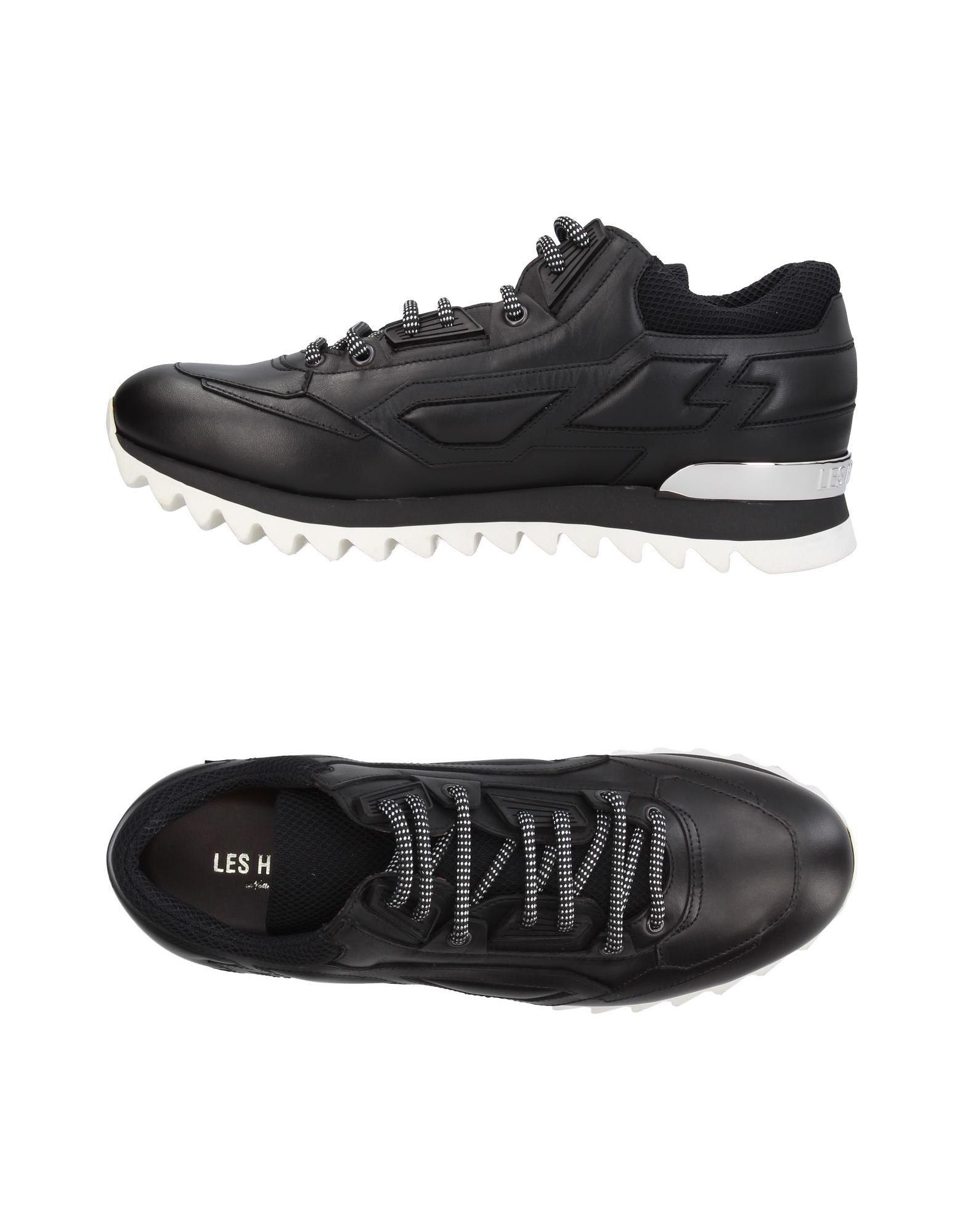 LES HOMMES Herren Low Sneakers & Tennisschuhe Farbe Schwarz Größe 9 jetzt billiger kaufen