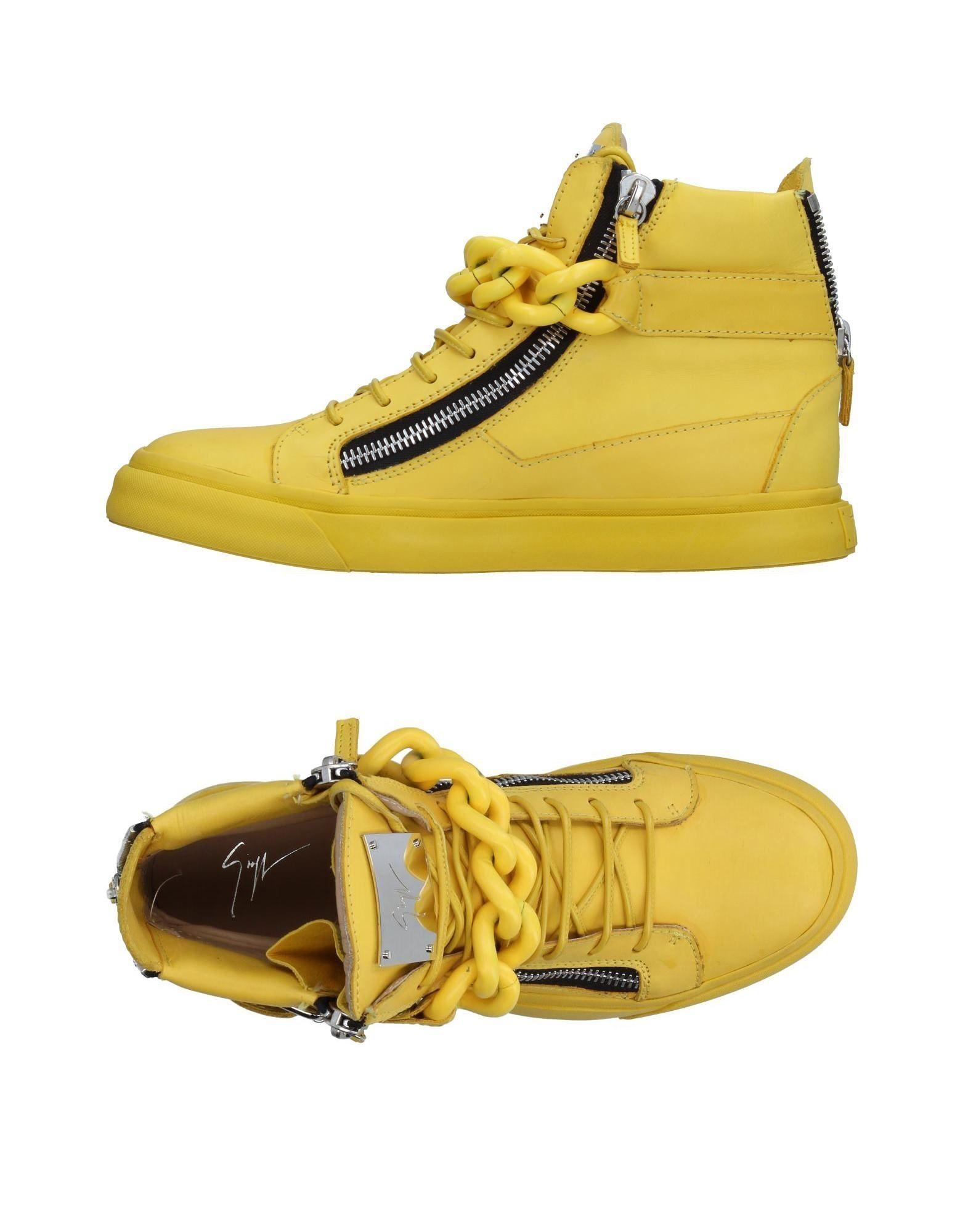 GIUSEPPE ZANOTTI DESIGN Herren High Sneakers & Tennisschuhe Farbe Gelb Größe 9 - broschei