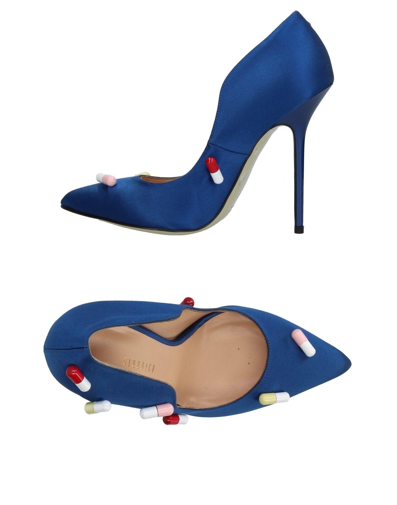 GIANNICO Damen Pumps Farbe Blau Größe 5 - broschei