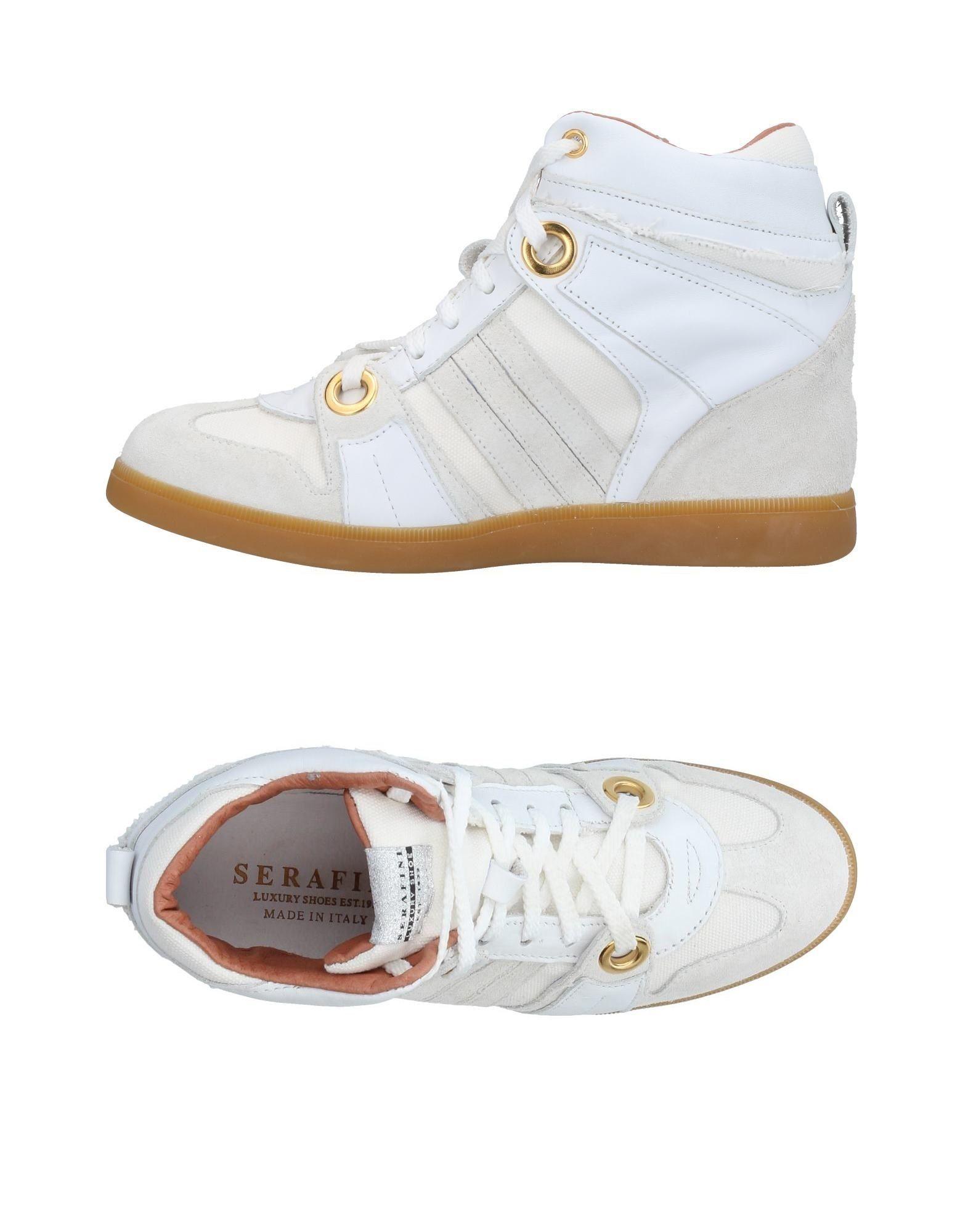 SERAFINI LUXURY Damen High Sneakers & Tennisschuhe Farbe Weiß Größe 13 jetztbilligerkaufen
