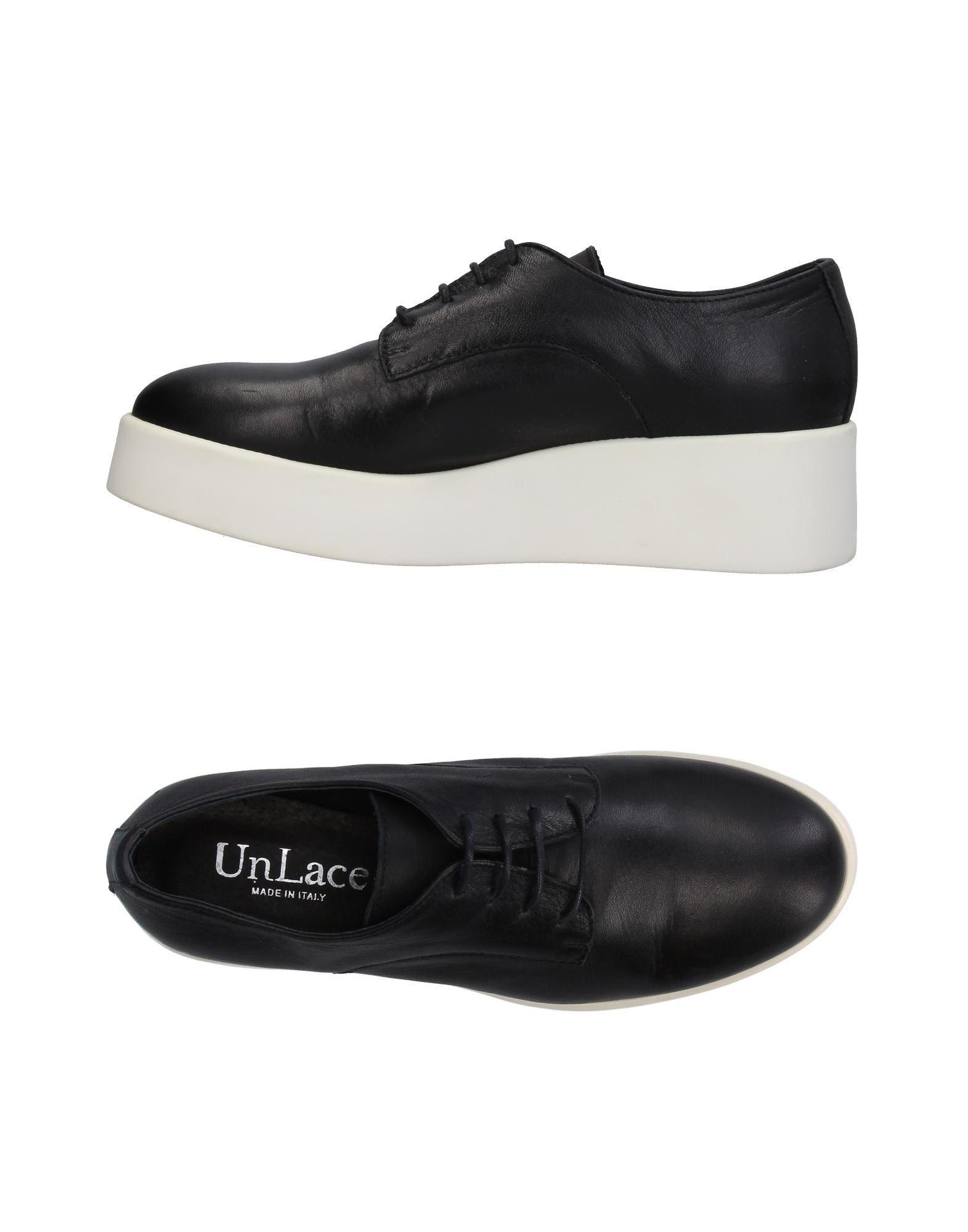 UNLACE Damen Schnürschuh Farbe Schwarz Größe 7 - broschei