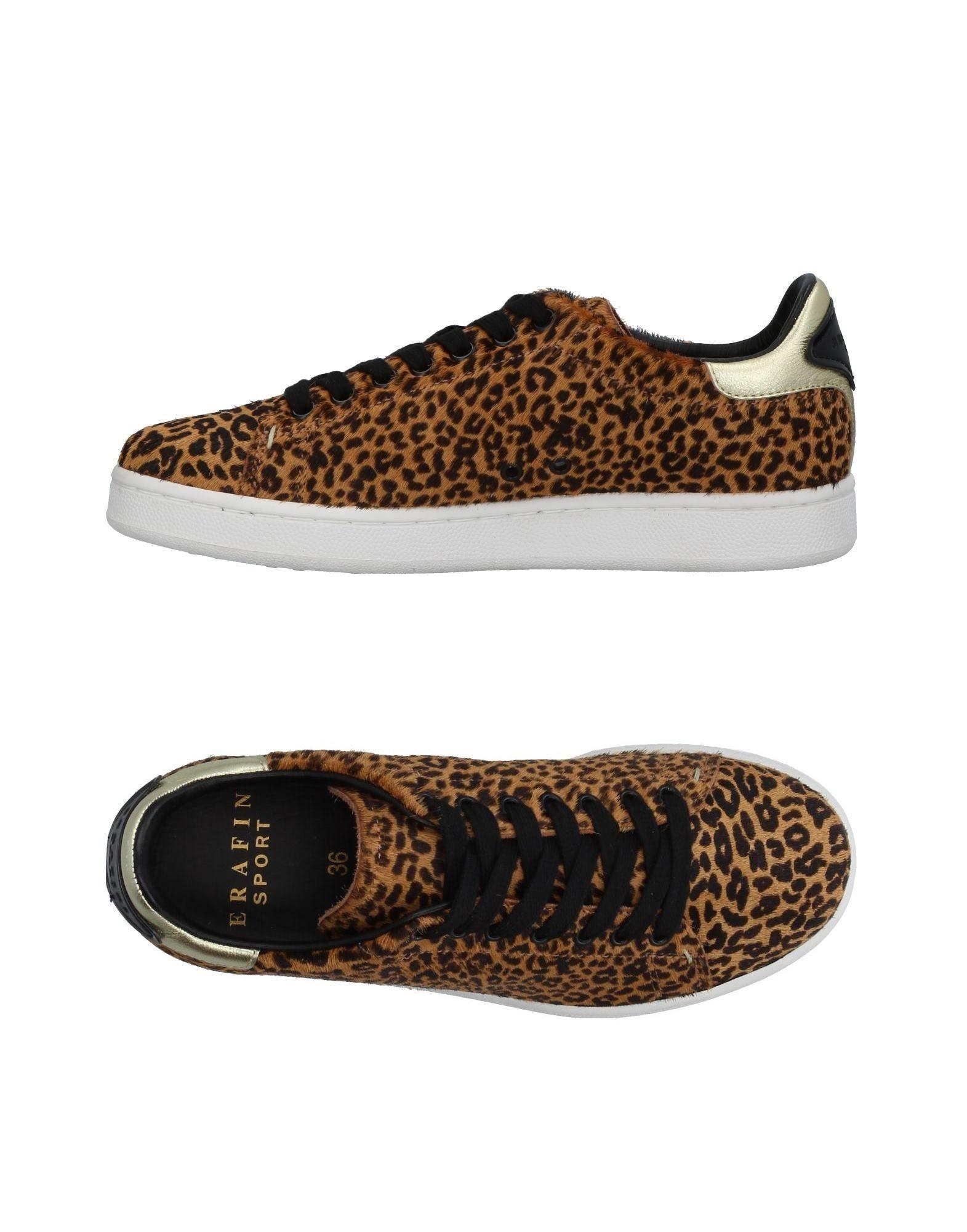 SERAFINI LUXURY Damen Low Sneakers & Tennisschuhe Farbe Braun Größe 5 jetztbilligerkaufen