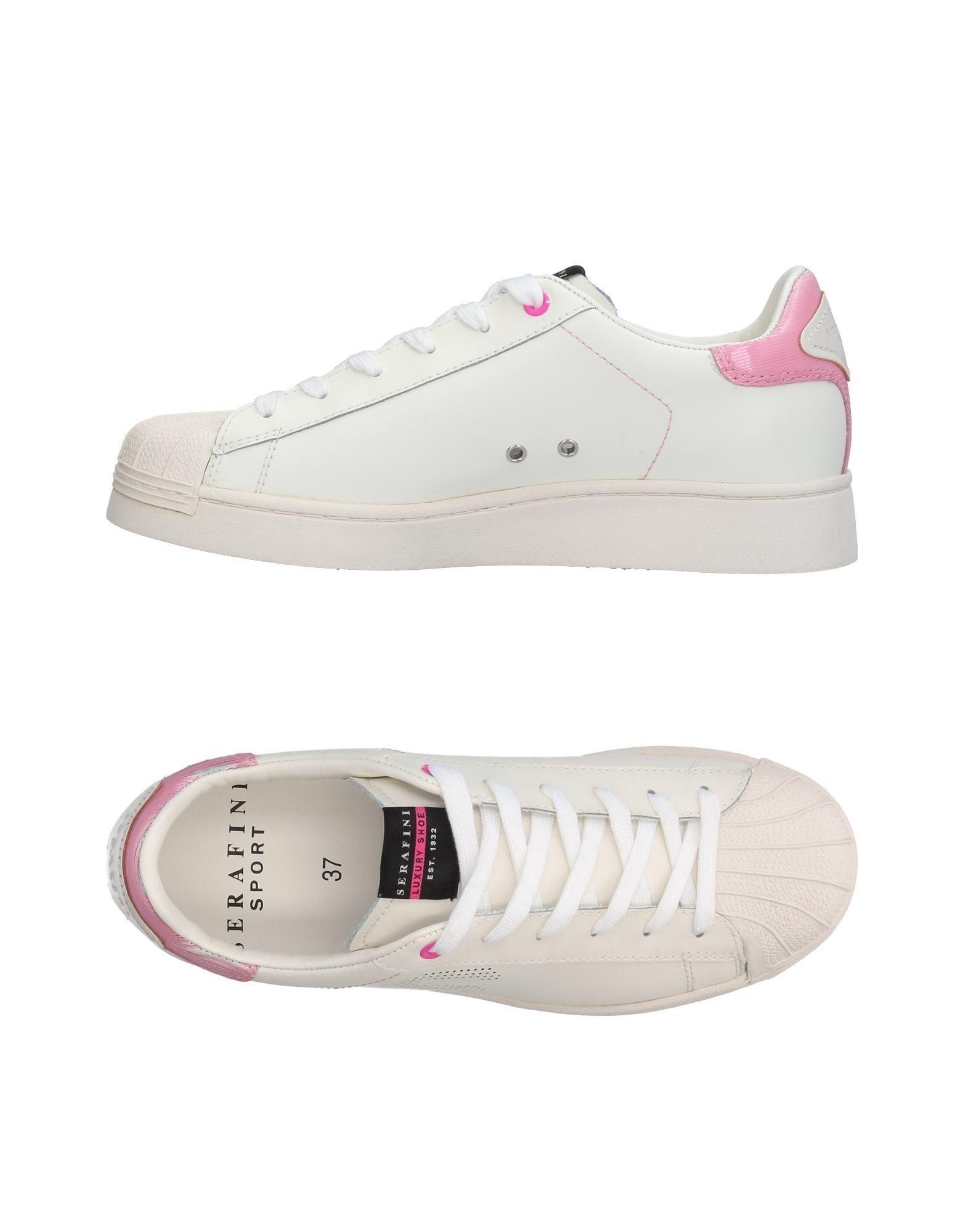 SERAFINI LUXURY Damen Low Sneakers & Tennisschuhe Farbe Elfenbein Größe 7 - broschei