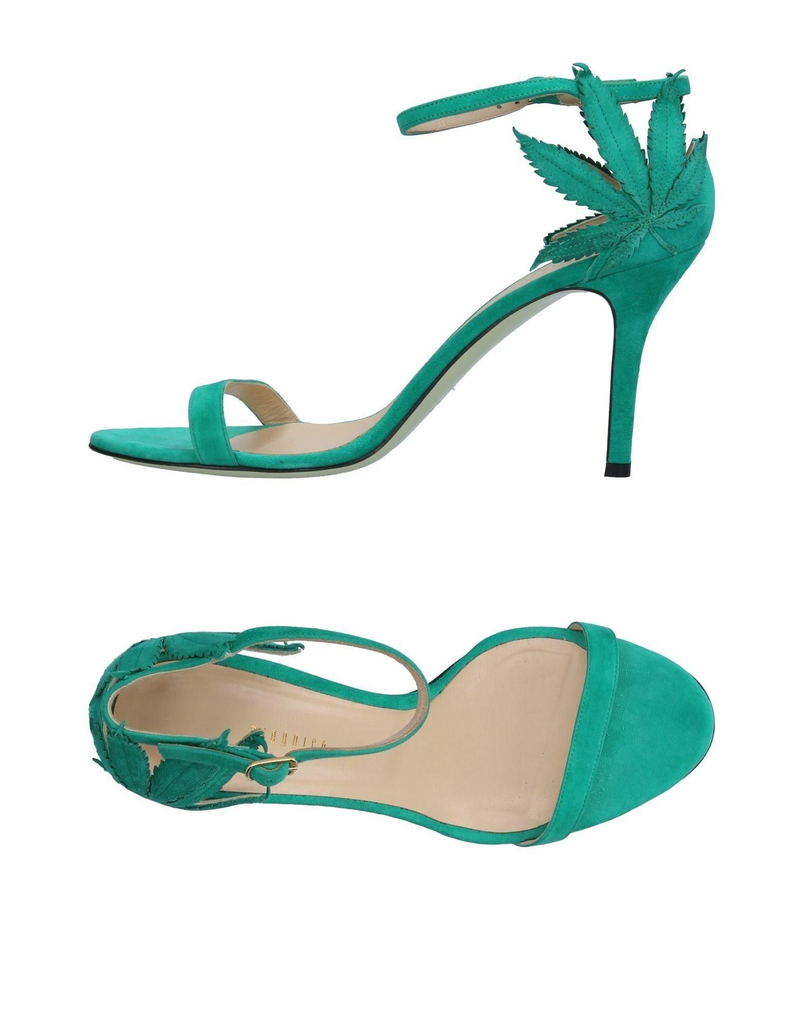 GIANNICO Damen Sandale Farbe Grün Größe 13 - broschei