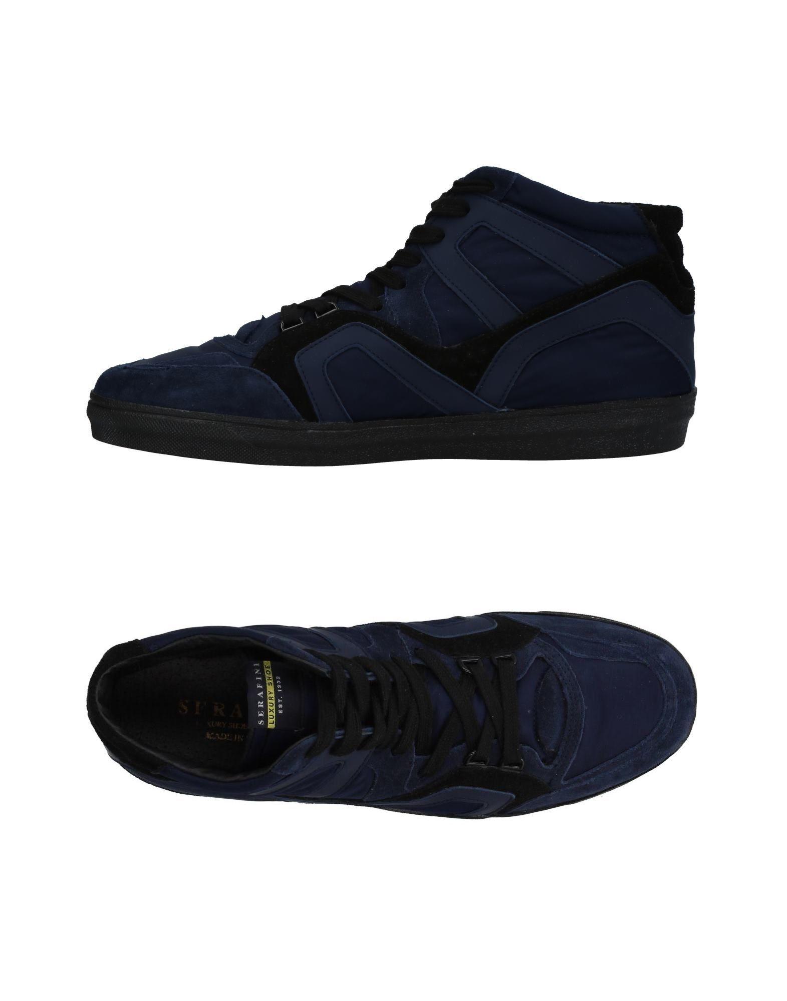 SERAFINI LUXURY Herren High Sneakers & Tennisschuhe Farbe Dunkelblau Größe 9 - broschei