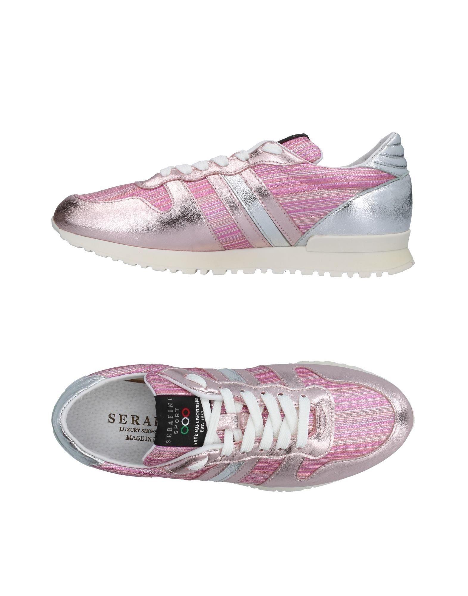 SERAFINI LUXURY Damen Low Sneakers & Tennisschuhe Farbe Rosa Größe 9 - broschei