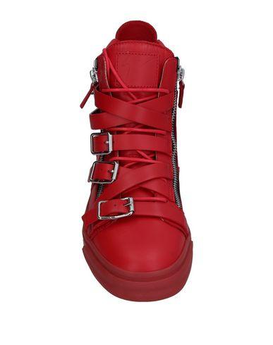 Фото 2 - Высокие кеды и кроссовки кирпично-красного цвета