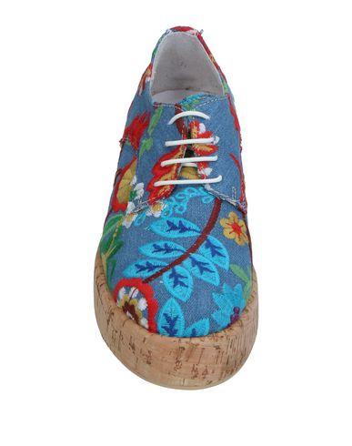 Фото 2 - Обувь на шнурках от UNLACE синего цвета