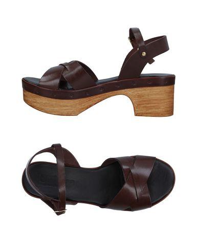 Фото - Женские сандали UNLACE темно-коричневого цвета
