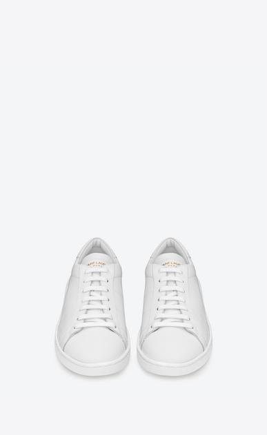 SAINT LAURENT Low Sneakers U sneaker court classic sl/01 en cuir blanc b_V4