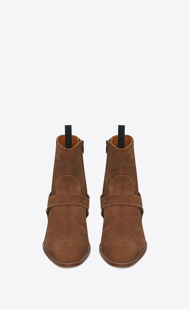 SAINT LAURENT Boots Man wyatt harness boot in suede b_V4