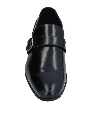 Фото 2 - Мужские мокасины  черного цвета