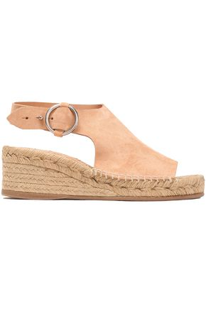 RAG & BONE Calla suede wedge espadrille sandals