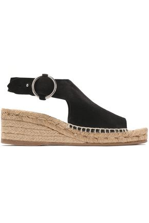 RAG & BONE Suede wedge espadrille sandals