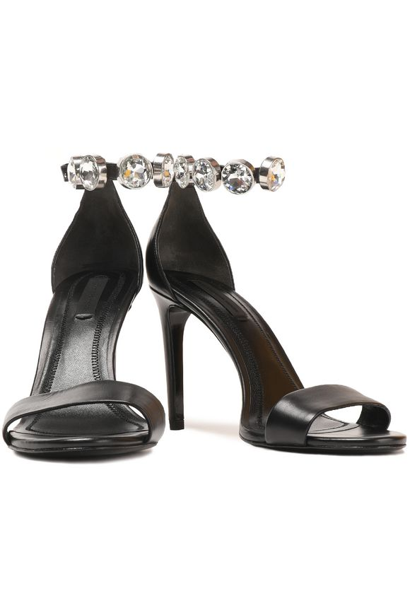Crystal-embellished leather sandals | ALEXANDER WANG | Sale up to 70% off |  THE OUTNET