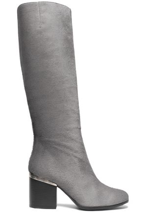 HOGAN Calf hair knee boots