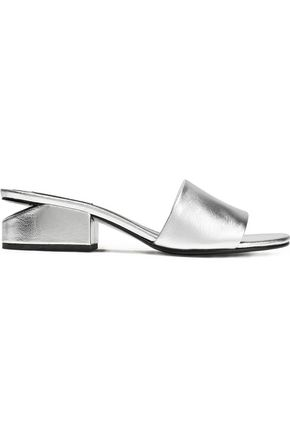 ALEXANDER WANG Metallic leather mules