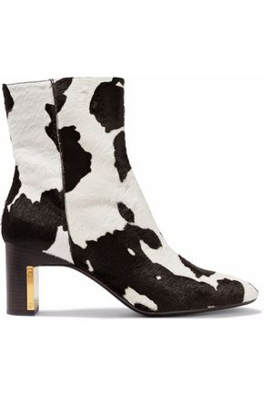 ROSETTA GETTY Printed calf hair ankle boots