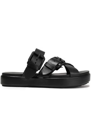 ALEXANDER WANG Kriss buckled leather platform sandals