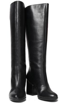 HOGAN Embellished leather knee boots