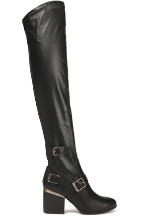 HOGAN Faux leather over-the-knee boots