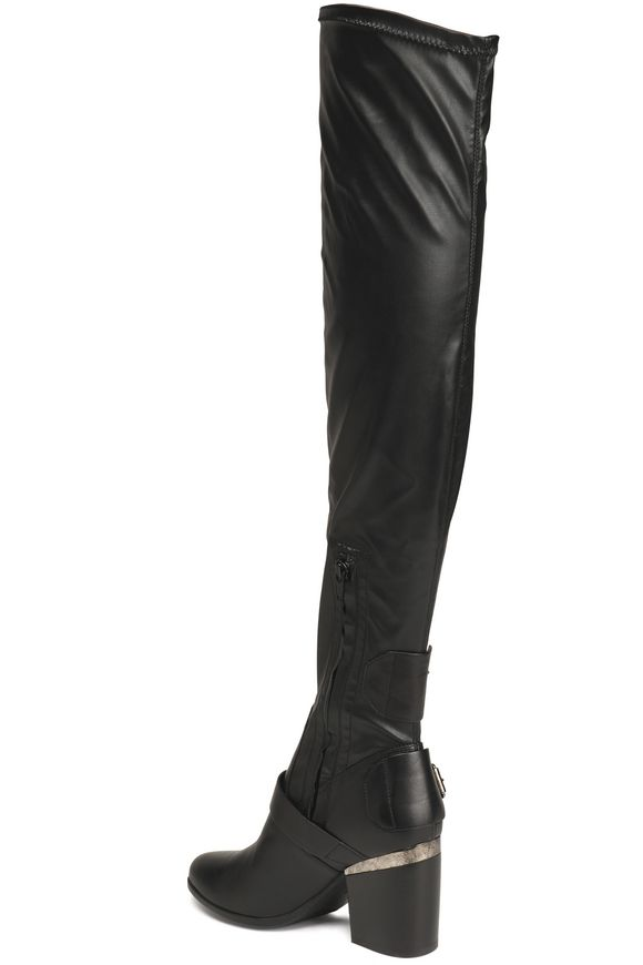 Faux leather over-the-knee boots | HOGAN | Sale up to 70% off | THE OUTNET