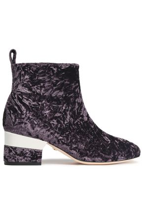 ISA TAPIA Crushed velvet ankle boots